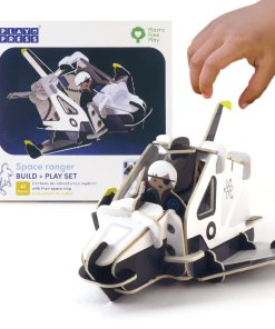 Plastic Free space ranger playset example setup from Playpress available at Just Gaia Halifax UK