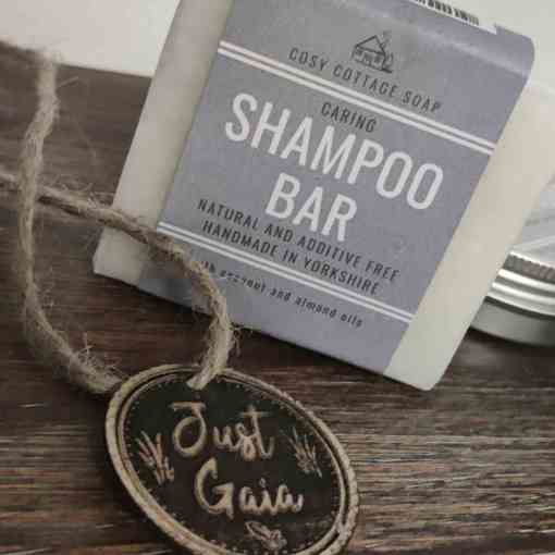 Cosy Cottage shampoo bar which is zero waste and plastic free