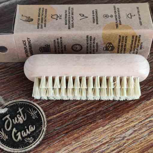 natural wooden nail brush