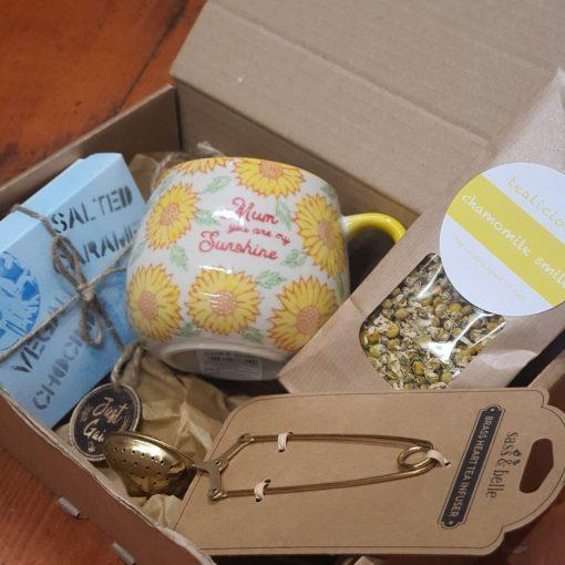 Mum You are my sunshine pack with vegan chocolates part of the mum mug and tea gift set at Just Gaia