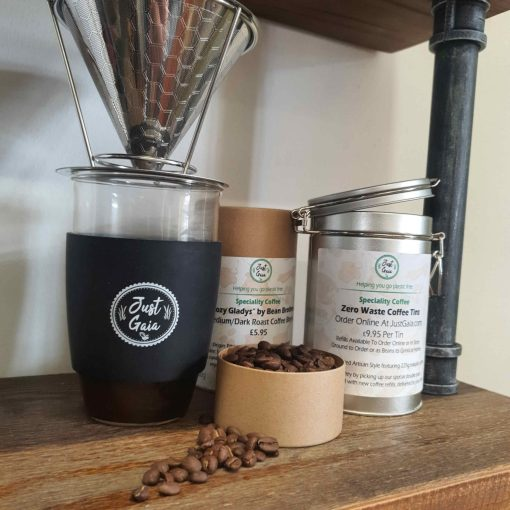 Speciality coffee at Just Gaia in Tubes, Tins and zero waste coffee refills. Natural Ethiopian Speciality Coffee Refills main image.
