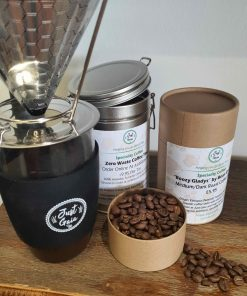 Speciality coffee at Just Gaia in Tubes, Tins and zero waste coffee refills such as columbian speciality coffee refills.