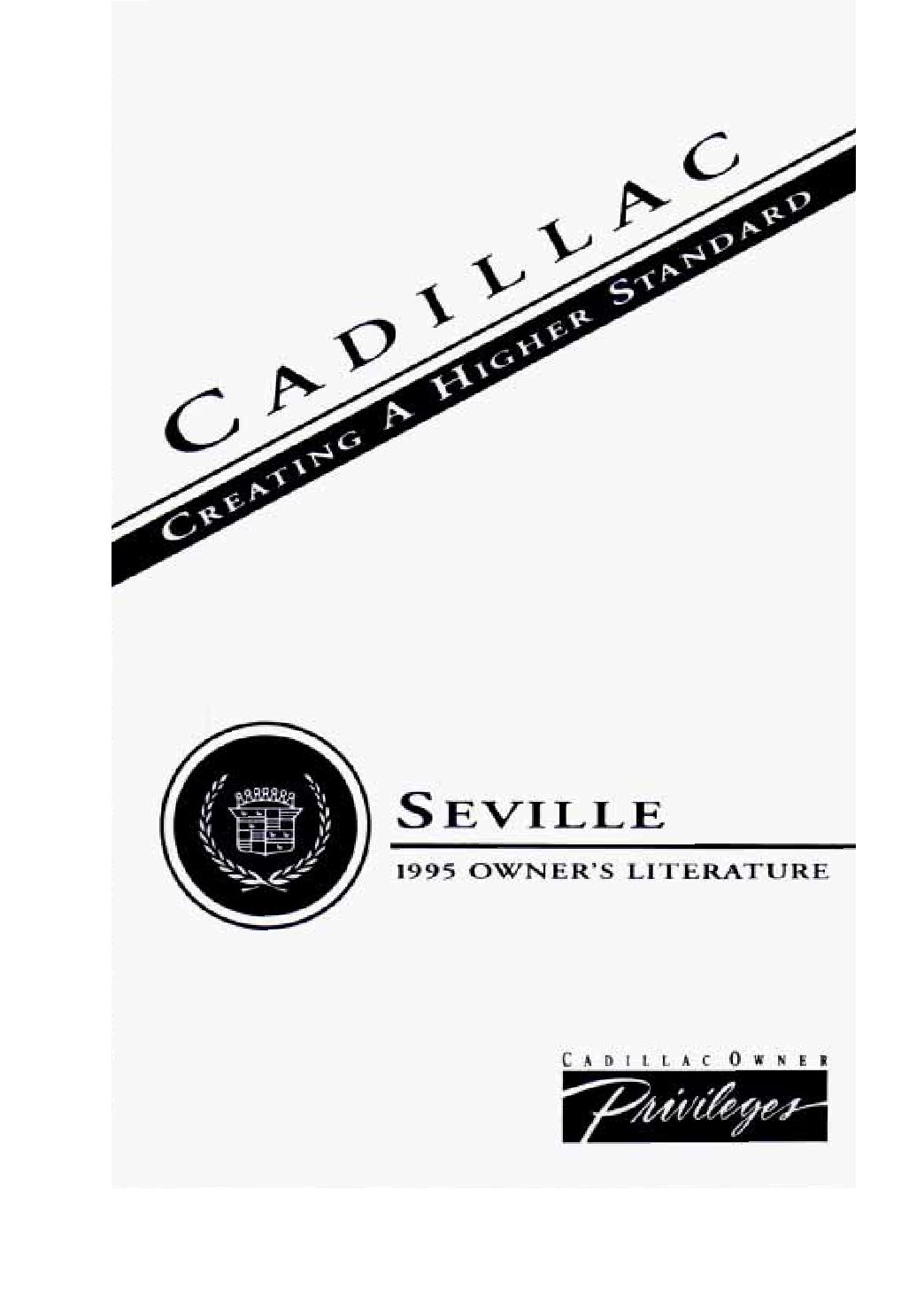 Cadillac Seville Owners Manual
