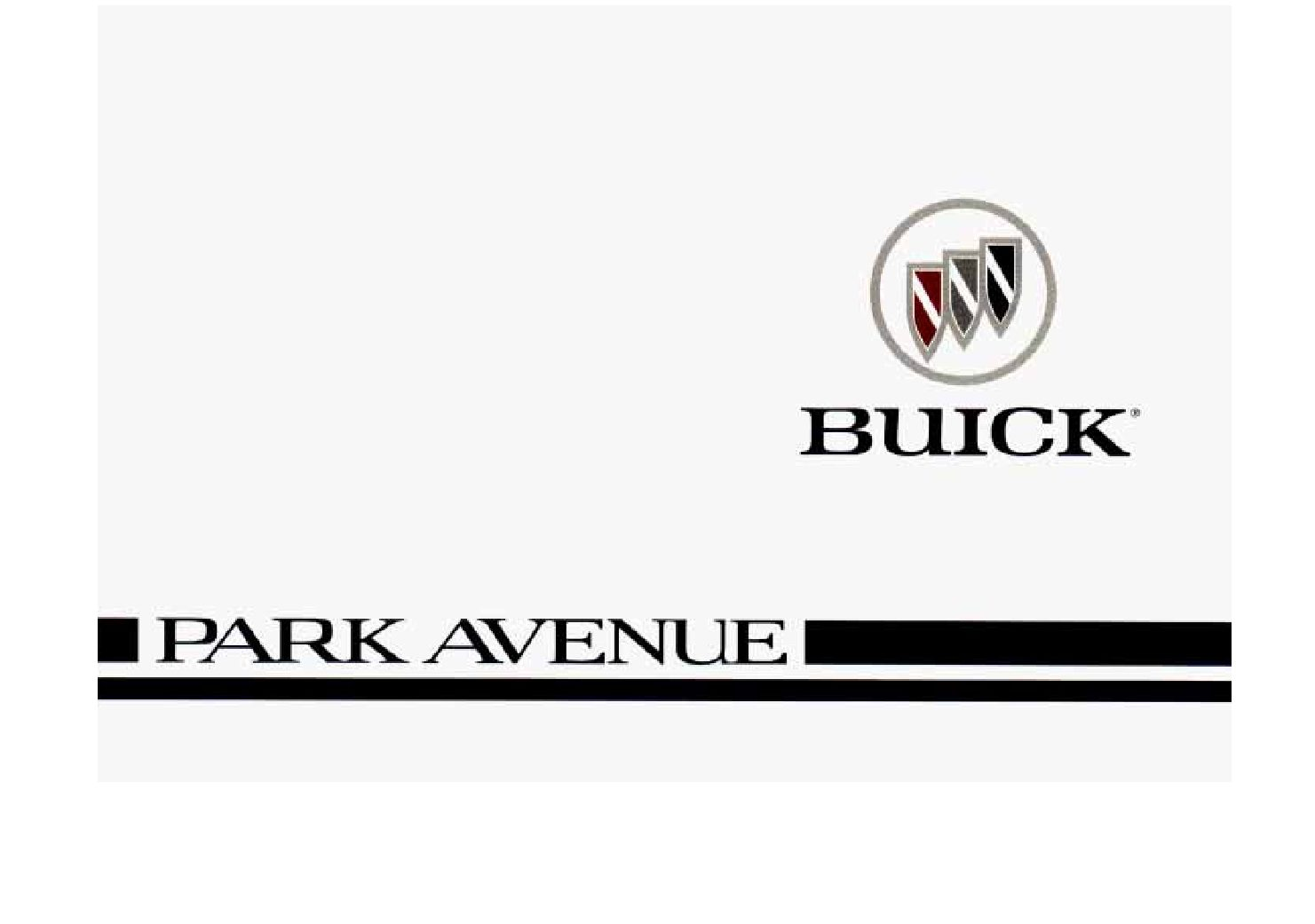 Buick Park Avenue Owners Manual
