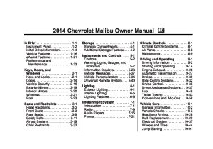 2014 chevrolet malibu Owners Manual | Just Give Me The Damn Manual