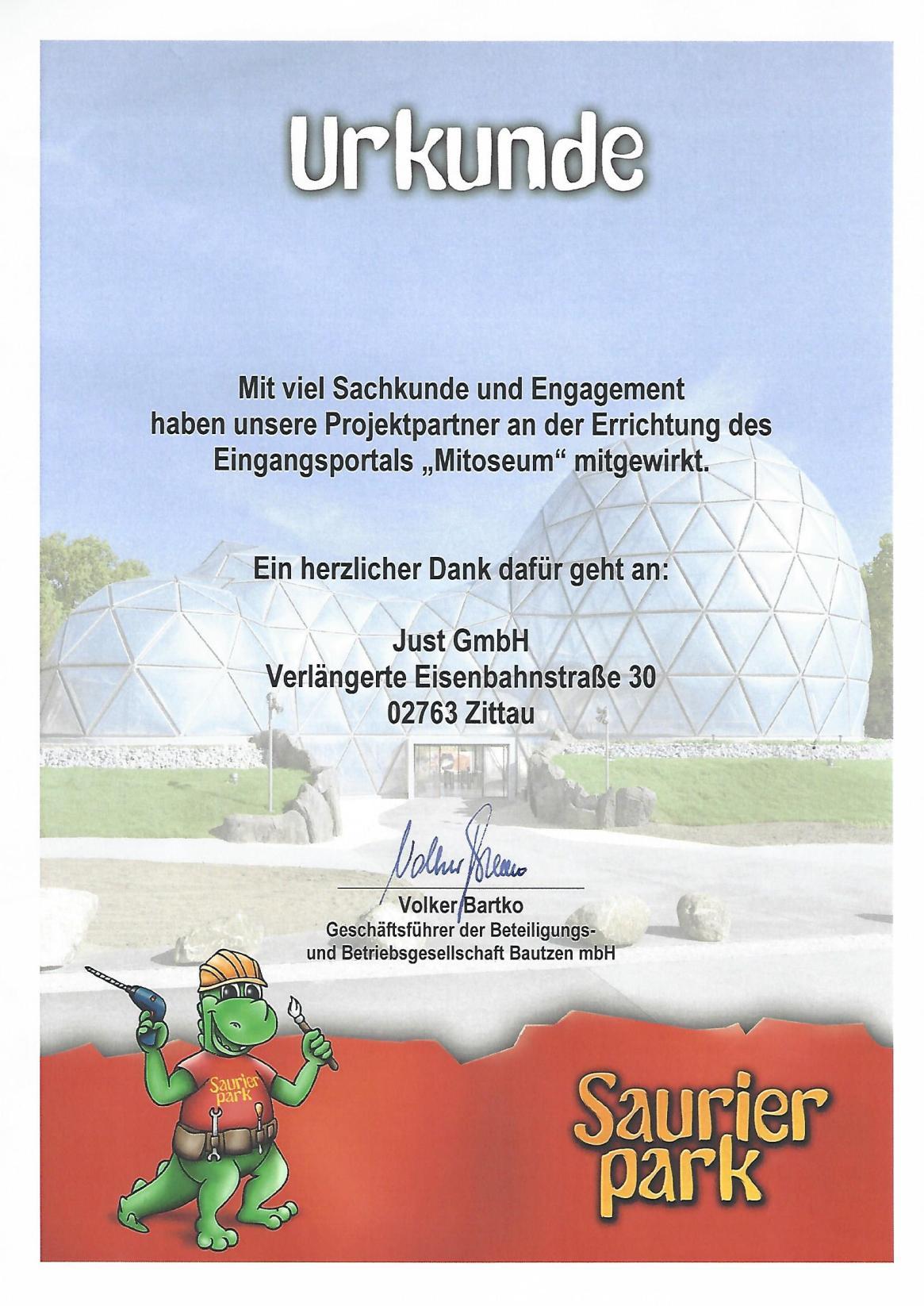 Stimme Saurier JUST GmbH