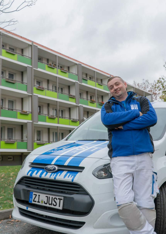 """Bernd Konschak """"Mein Revier ist der Block"""" JUST GmbH Zittau"""