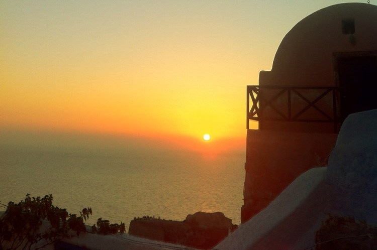 The famous sunset at Oia