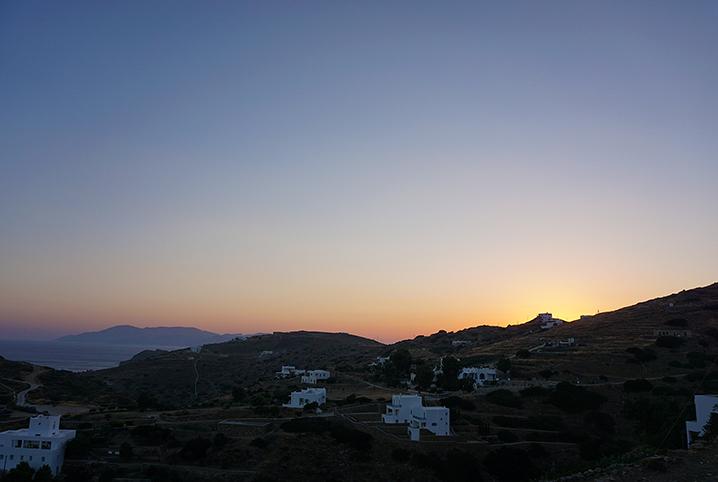 Ios Griekenland zonsondergang