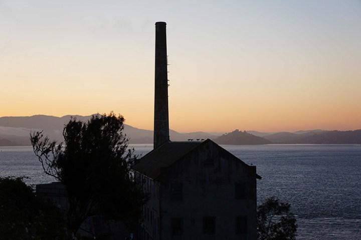 Alcatraz zonsondergang
