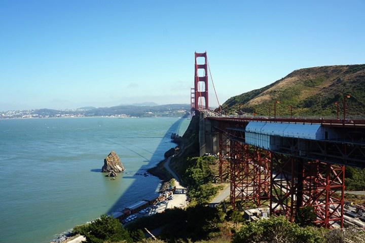 Golden Gate bridge overkant San Francisco