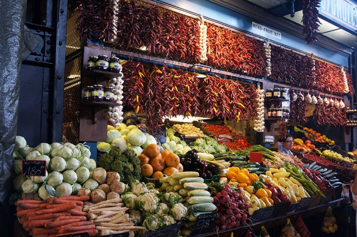 Markt Boedapest Hongarije