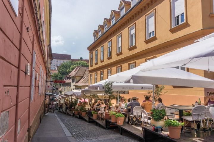 Terrasjes in Zagreb