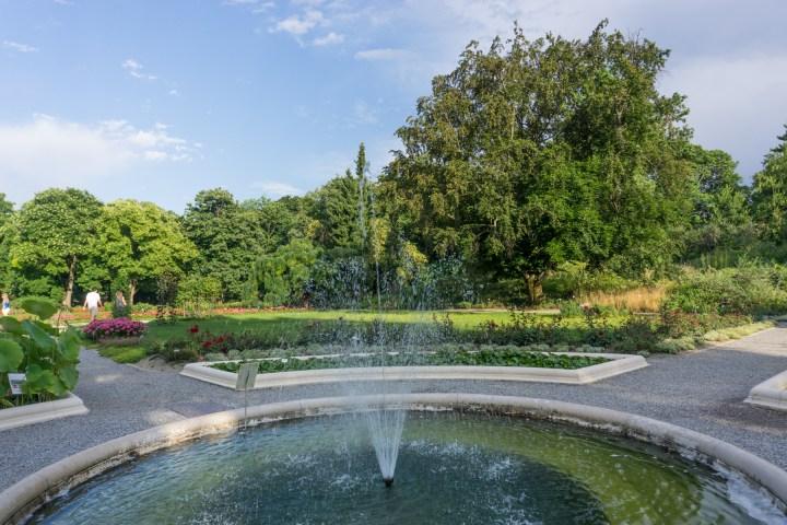 Fontein bij botanische tuin