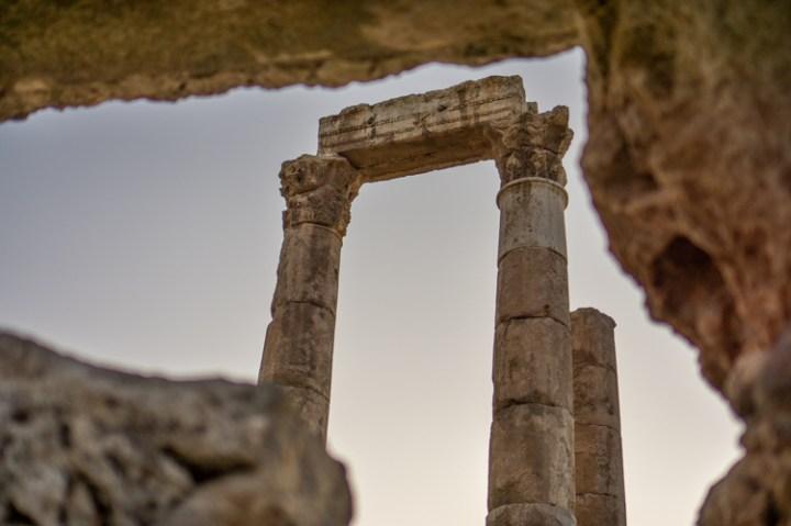 Citadel van Amman in Jordanië