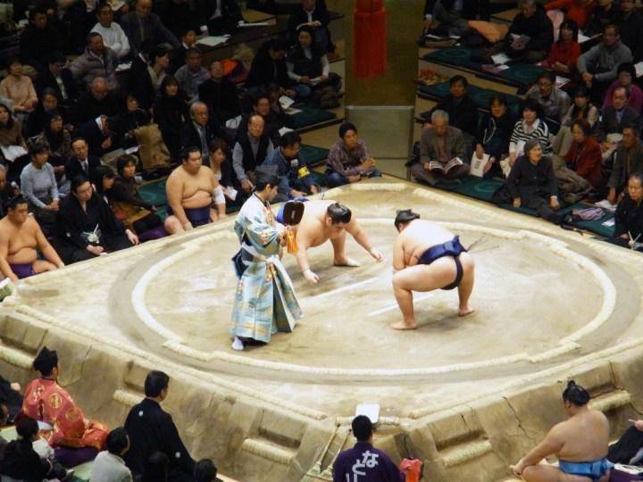 Japan Tokio sumoworstelaars