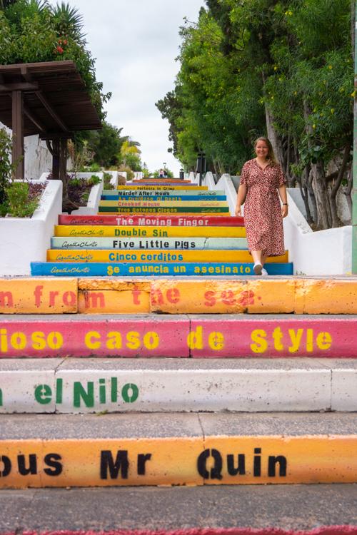 Escaleras Agatha Christie Tenerife