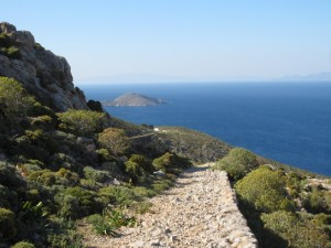 Trail on Tilos.