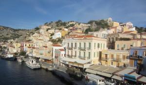 Symi harbour.
