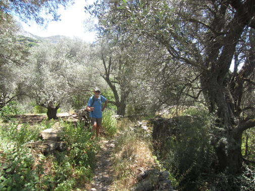 Hiking on Naxos.