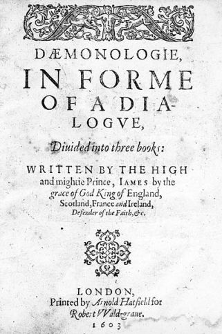 James_I;_Daemonologie,_in_forme_of_a_dialogue._Title_page._Wellcome_M0014280