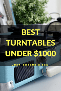 Blog Title Image for an Article Called Best Turntables Under $1000
