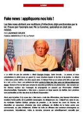 Diffamation et Fake news _ appliquons nos lois ! - Le Point du 6 favrier 2018 _Page_1