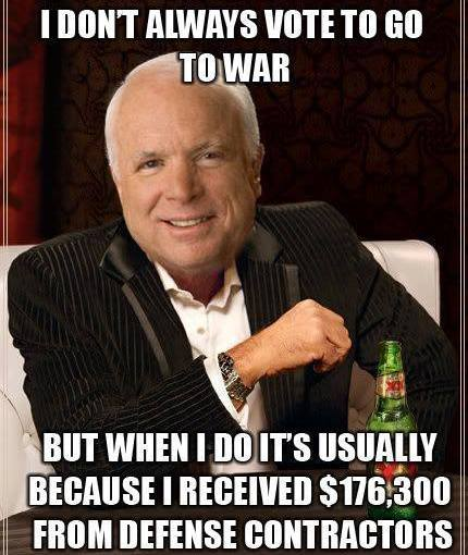 """""""The Manufactured McCain:Lifting Up A Bloodstained, Lying, Venal Servant of Capitalist Empire""""  … Even the Left weighed in to expose this RINO fraud!"""