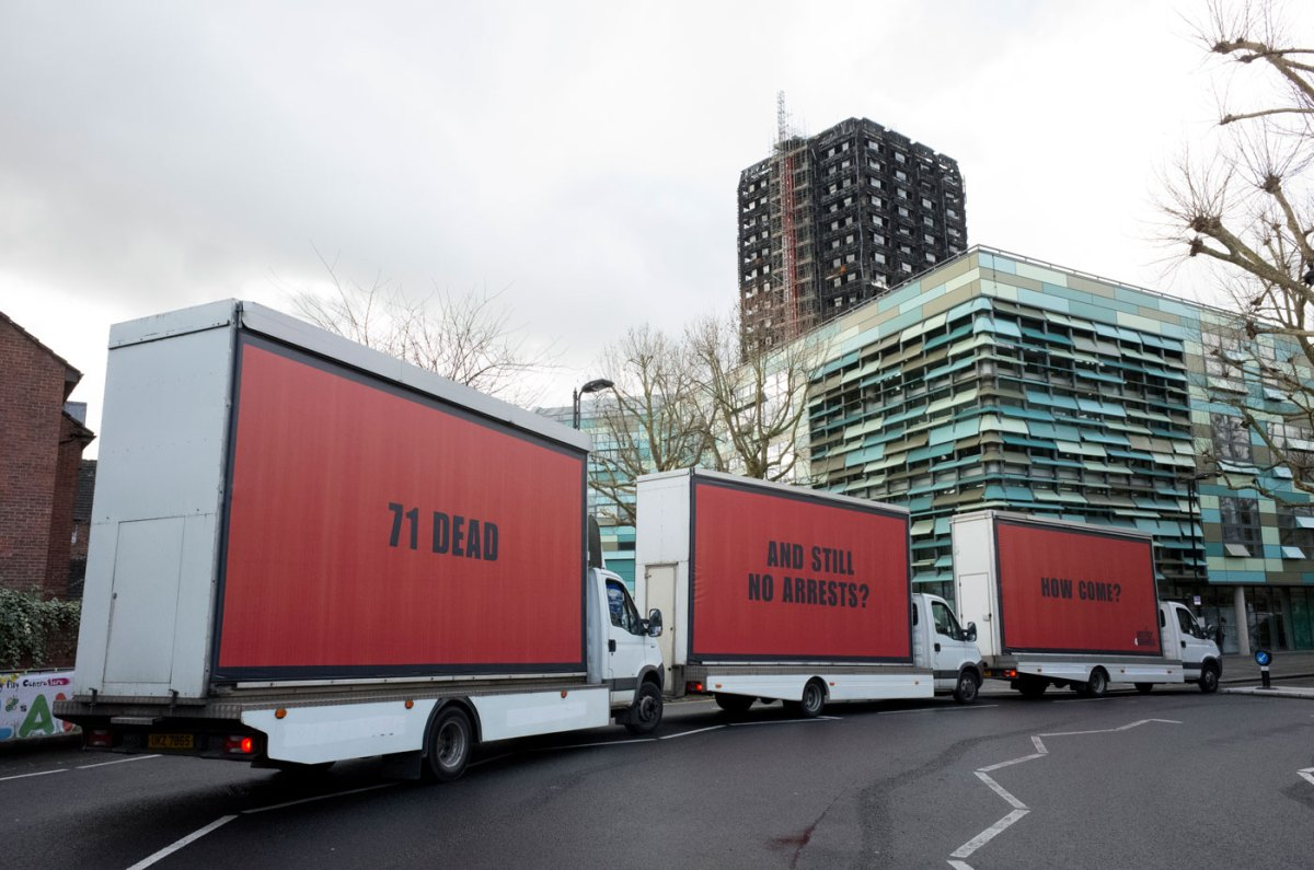 3 Billboards Outside Grenfell Tower, London