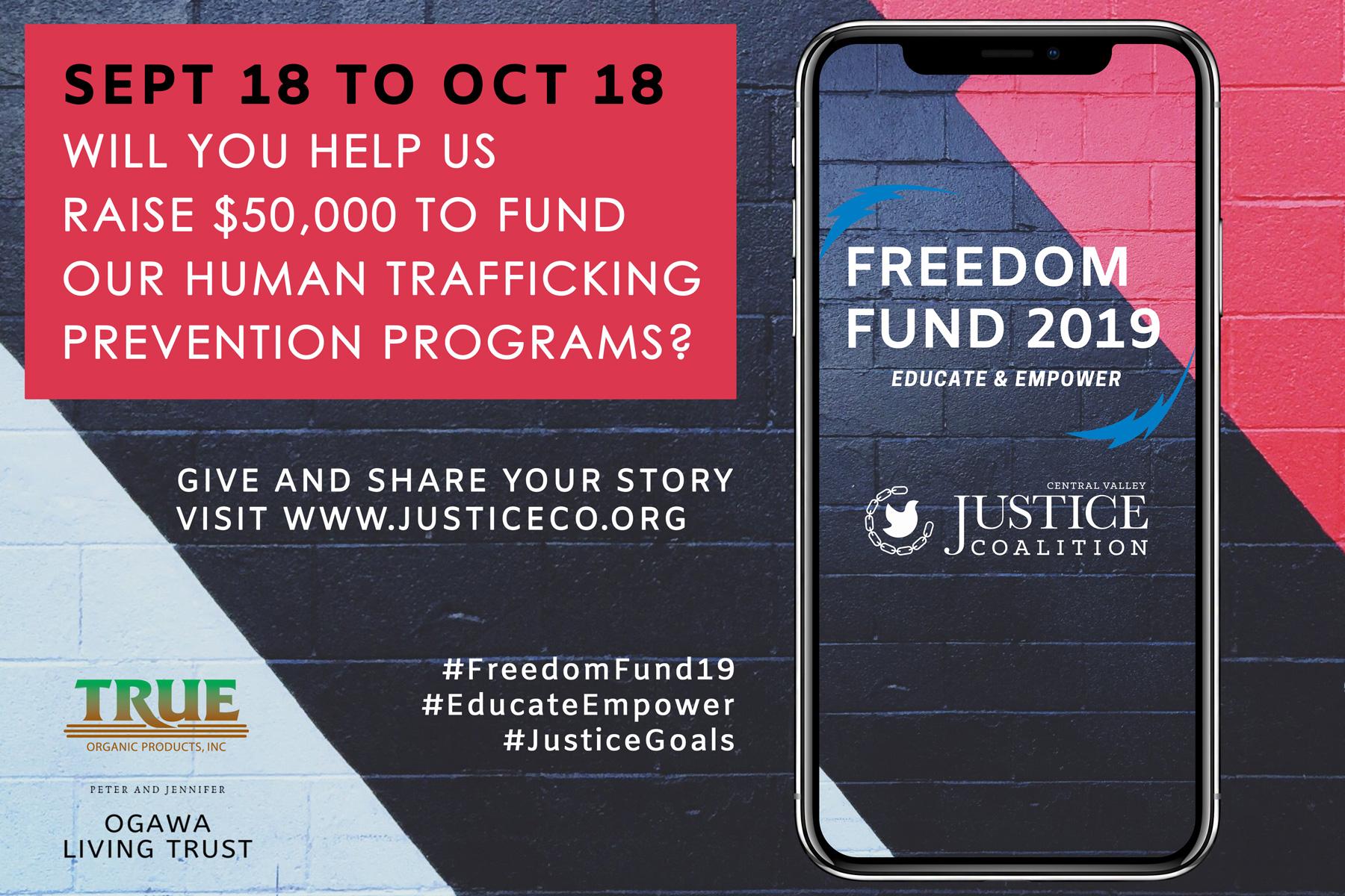 Freedom Fund 2019 promo slide