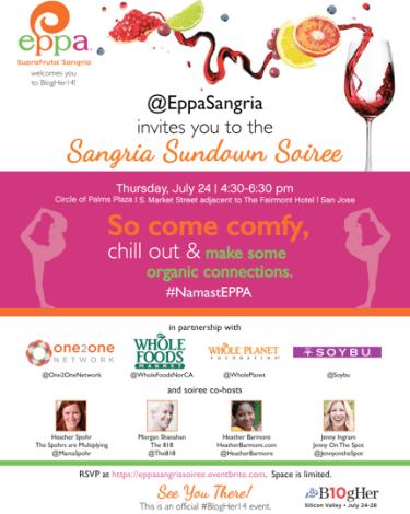 {Sponsored} Sangria + Yoga = Love: My #BlogHer14 #NamastEppa Party Recap