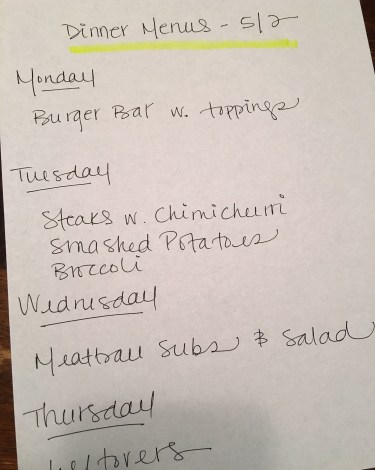 What's for Dinner: Week of 5.2