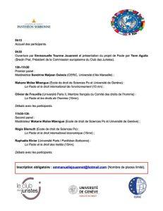 Roundtable Pacte mondial pour l'environnement 2