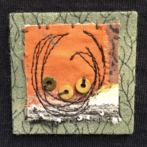 Hand-sewn, mixed-media, one-of-a-kind wearable art