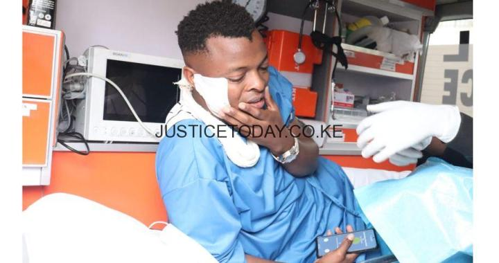 Ringtone arrives in court in an ambulance for blogger case