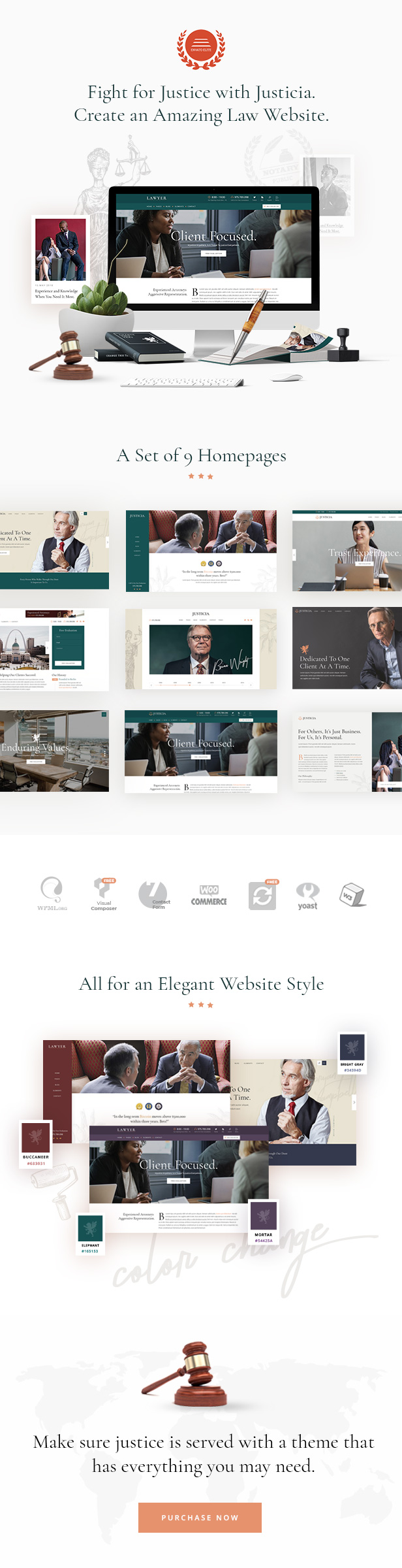 Justice - Lawyer and Law Firm Theme - 1