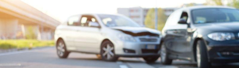 Escena de colisión de vehículos