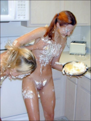 Teens getting messy with food 300X399 size
