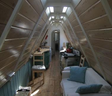 Justina Hart blog image showing inside of boat