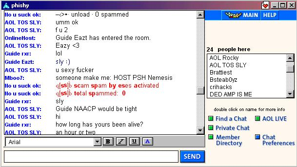 aol live chat rooms