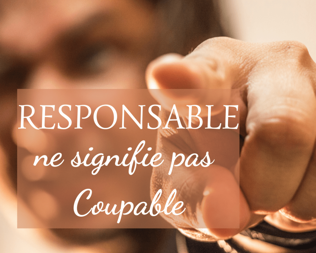 responsable ne signifie pas coupable