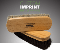 Custom imprinted brushes by Justin Blair & Co