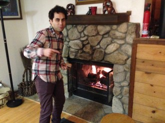 Brien by the Fireplace