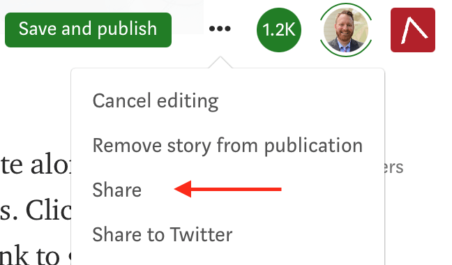 If you're new to Medium, consider sharing stories you enjoy. Screenshot by the author.