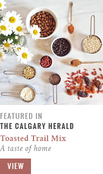 Feature // Toasted Trail Mix | A taste of home | Calgary Herald Gastropost // JustineCelina.com