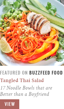 Tangled Thai Salad with Ginger Peanut Sauce   17 Mouthwatering Noodle Bowls that are better than a Boyfriend   BuzzFeedFood Community Post Recipe Feature // JustineCelina.com