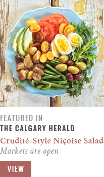 Feature // Crudité-Style Niçoise Salad | Markets are Open | Calgary Herald Gastropost // JustineCelina.com