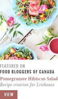 Pomegranate Hibiscus Salmon Salad   Recipe Creation for Litehouse Foods // JustineCelina.com