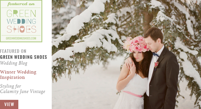 Featured on Green Wedding Shoes   Winter Wedding Inspiration with Pink & Gold // JustineCelina.com