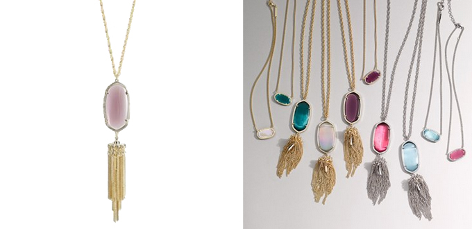 Kendra Scott 'Rayne' Stone Tassel Pendant Necklace | Nordstrom Anniversary Sale